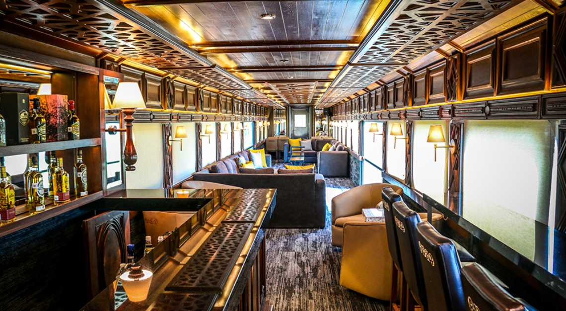 The interior of the Jose Cuervo Express