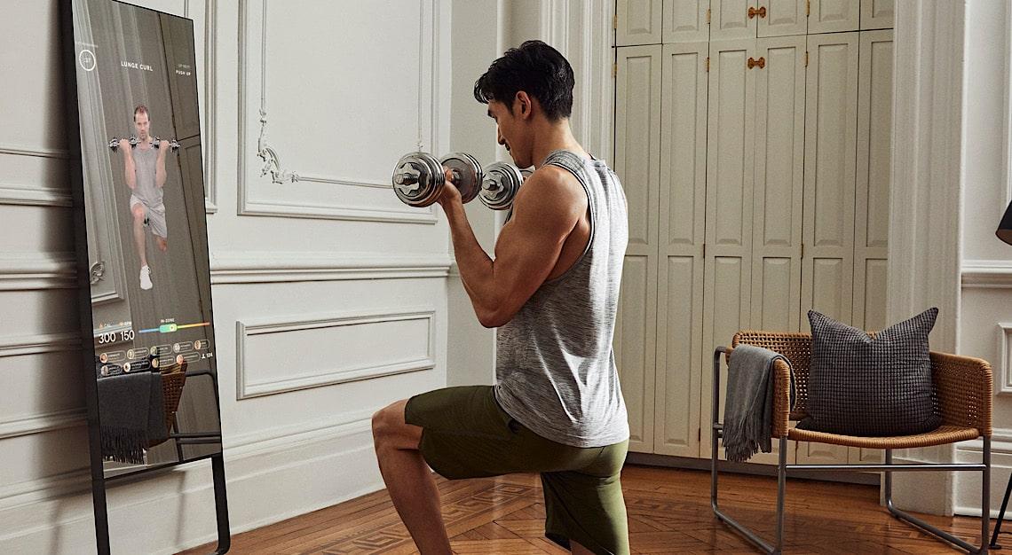 Mirror Home Gym Weights