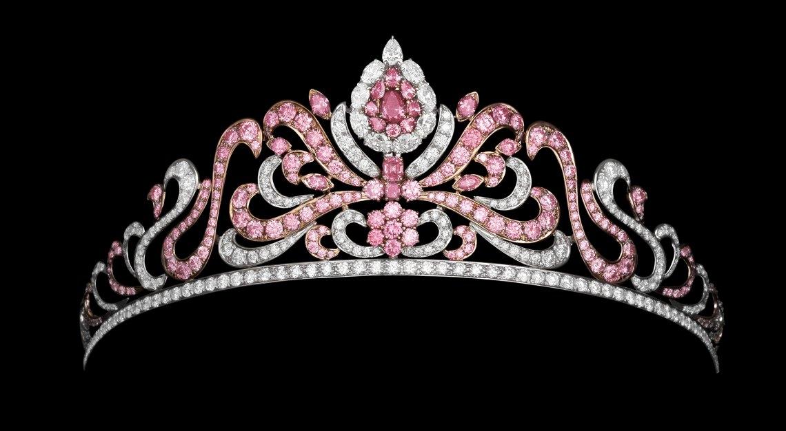 The Linney's Argyle Pink Diamond Tiara, comprising 178 Argyle pink diamonds, weighing almost 20 carats