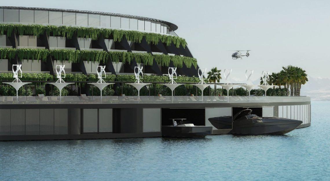 eco luxury floating hotel qatar