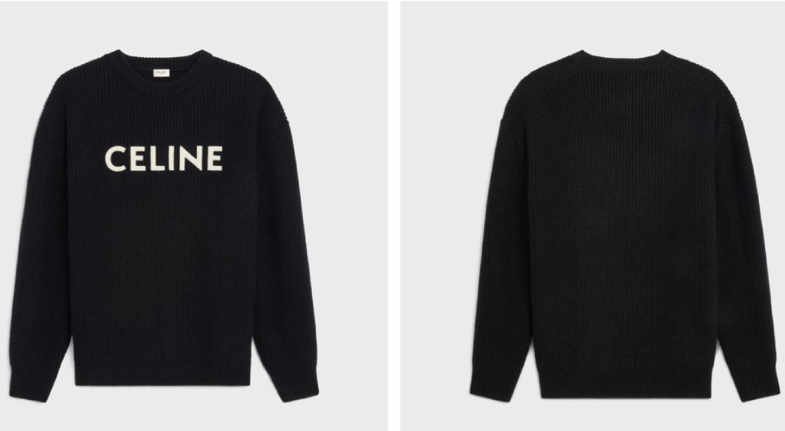Oversized Sweater in Wool Celine