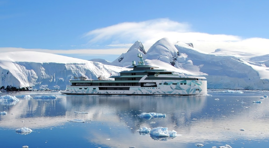 This Epic New 345-Foot Expedition Yacht Has an 8,000-Mile Range
