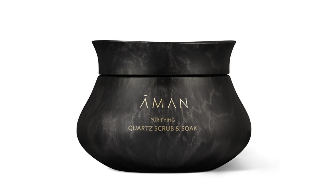 Aman's Purifying Quartz Scrub and Soak