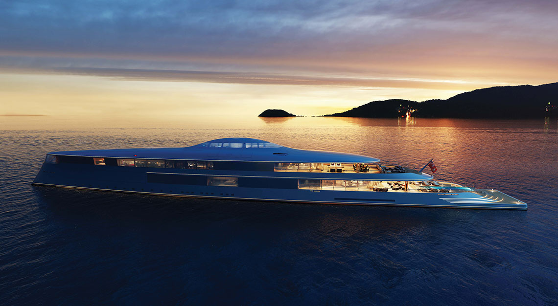 Aqua yacht by Sinot and Lateral Naval Architects