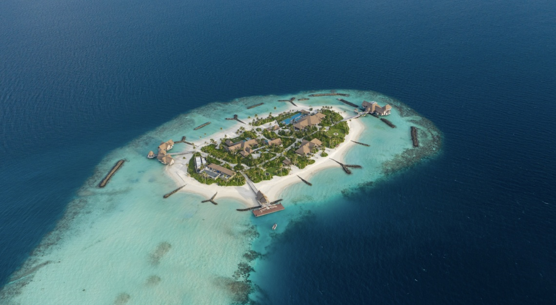 Aerial view of Ithaafushi