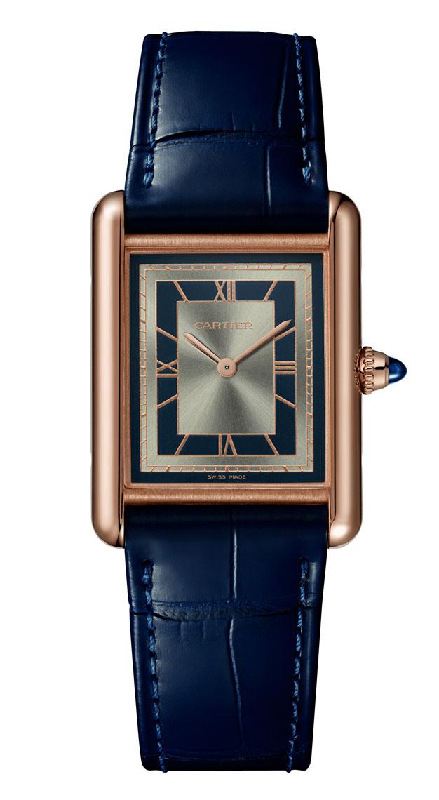 Rectangle watches Cartier Tank Louis Cartier Blue
