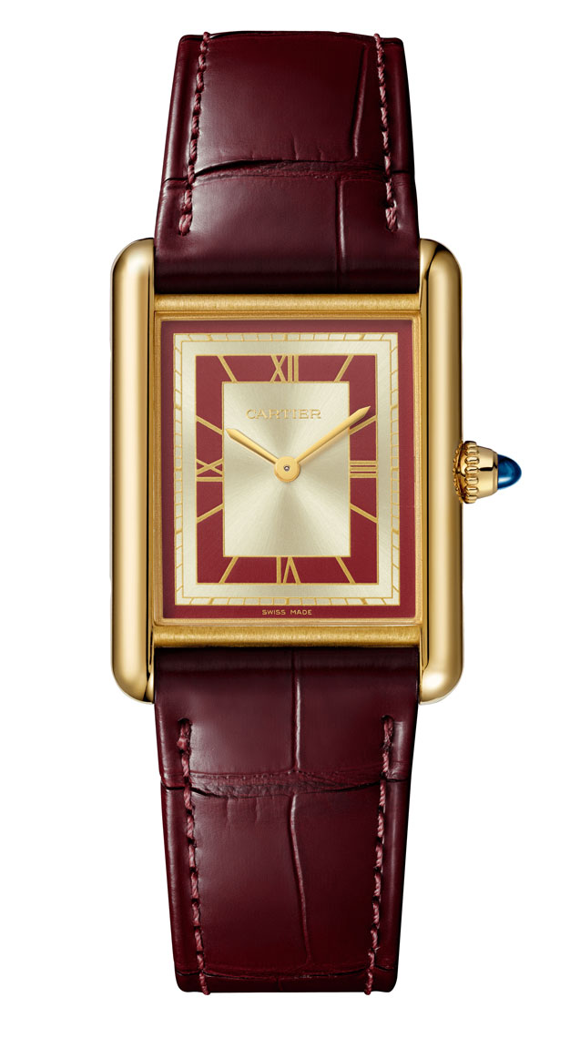 Rectangle watches Cartier Tank Louis Cartier Red