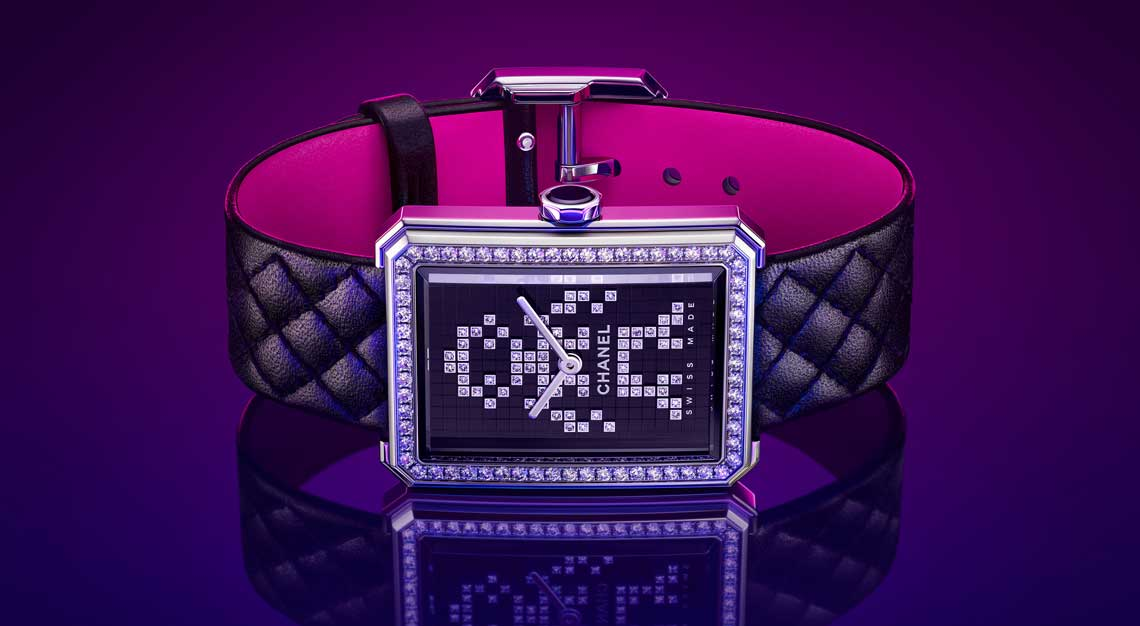 Rectangle watches Chanel Boy.Friend Electro Neon