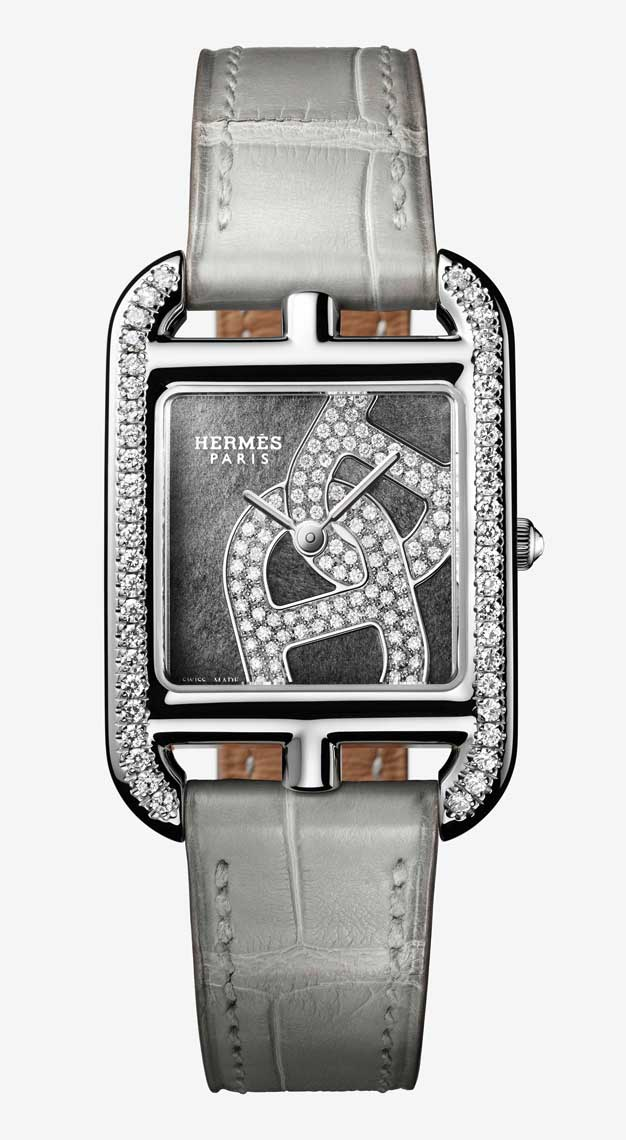 Rectangle watches Hermes Cape Cod Chaine d'Ancre