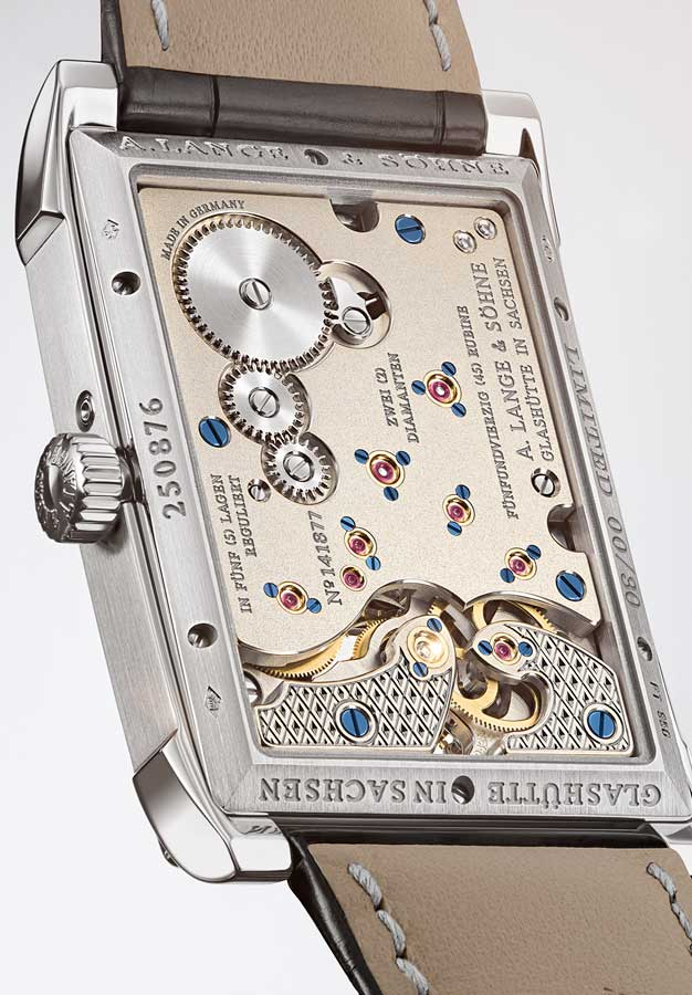 Rectangle watches A Lange & Sohne back