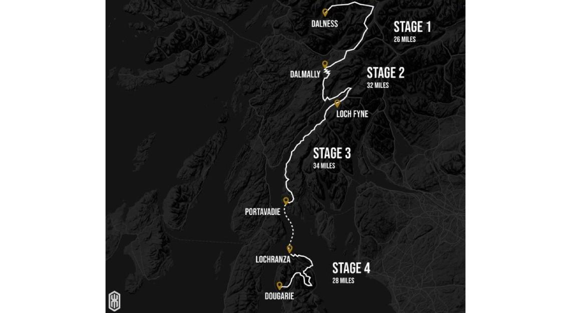 Highland Kings Ultra race map
