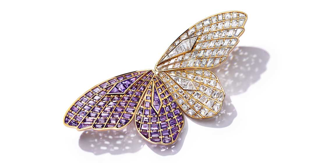 Tiffany Colors of Nature hj butterfly brooch